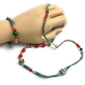 Traditional Tibetan vintage beaded jewelry
